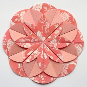 Origami Flower With Circle Paper