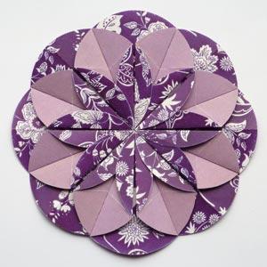 purple origami dahlia flower