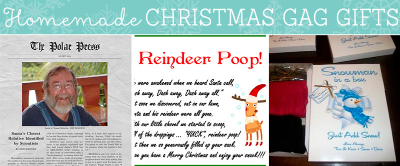 homemade christmas gag gifts reindeer poops