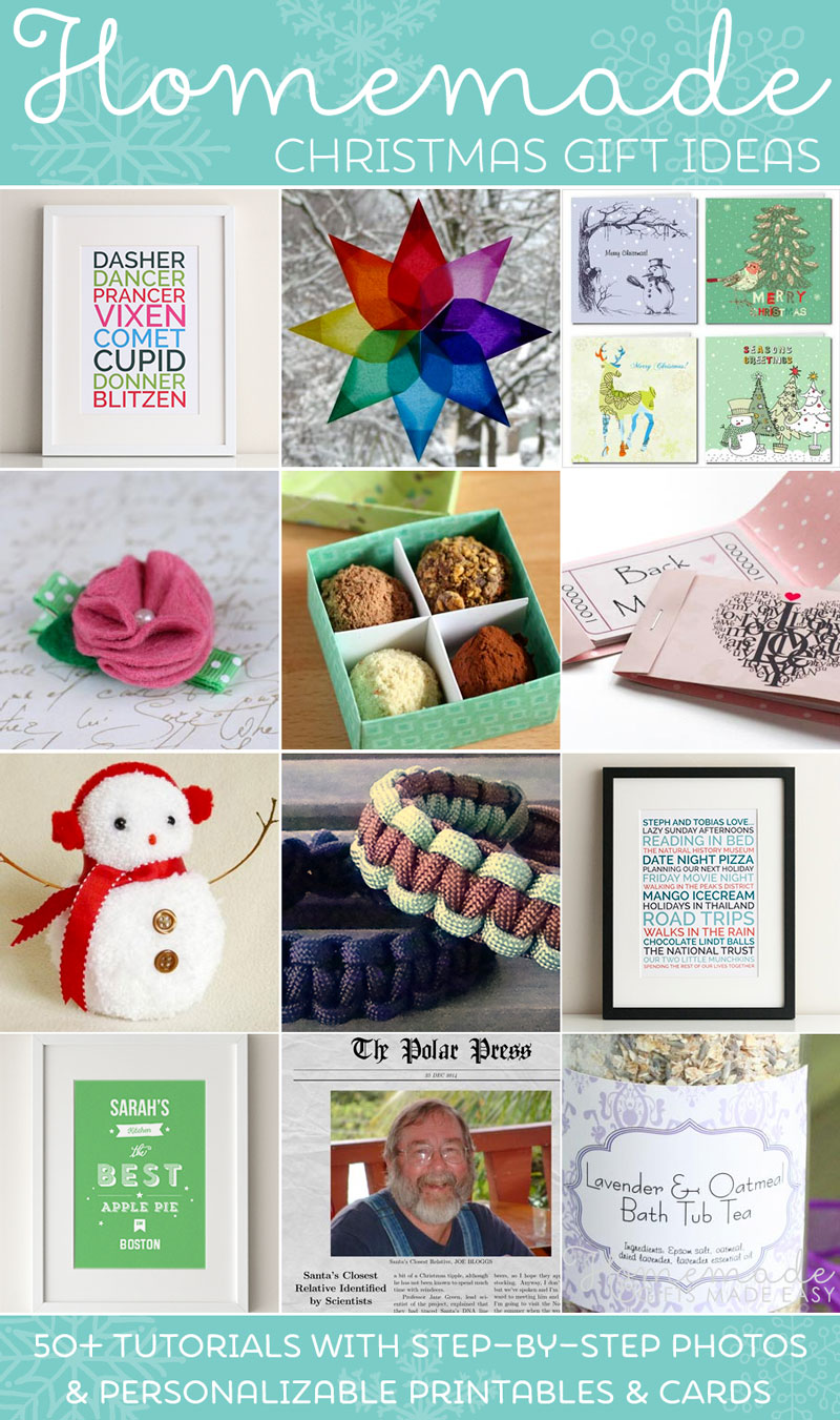 Easy Homemade Christmas Gift Ideas - Make Inexpensive Presents and ...