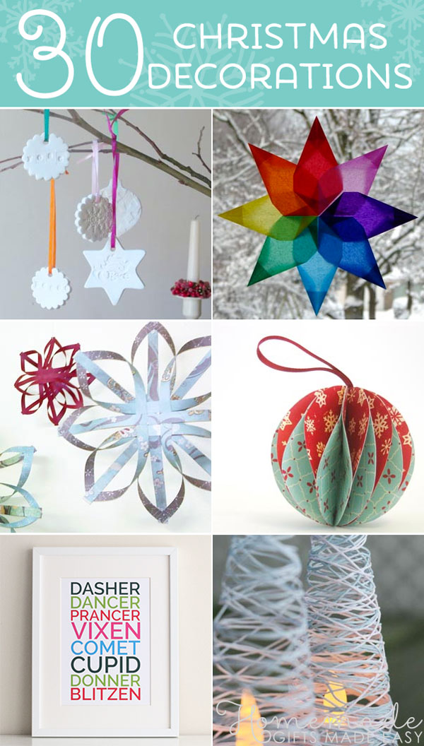 easy homemade christmas decorations