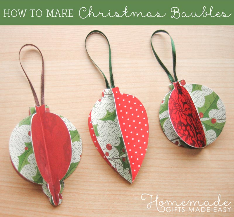 Homemade christmas ornaments to make for How to make christmas decorations