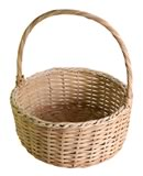 empty wicker basket for making homemade gift baskets