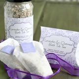 lavender crafts homemade oatmeal bath tea