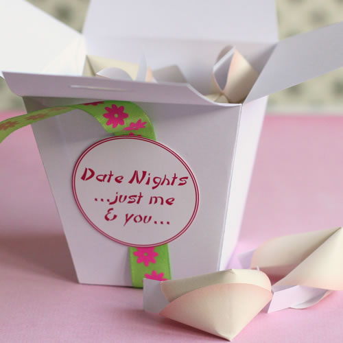date night fortune cookies homemade romantic gift