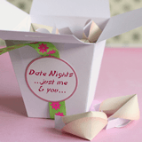 homemade boyfriend gift idea date night fortune cookies