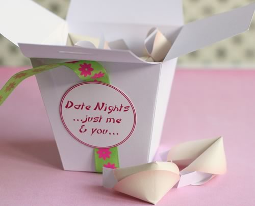 chinese take out gift box medium  pink