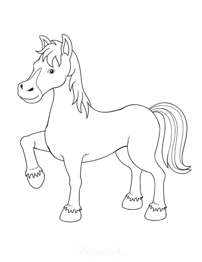 Horse Coloring Pages Cartoon Horse