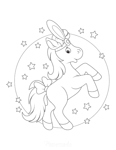 Horse Coloring Pages Circus Stars