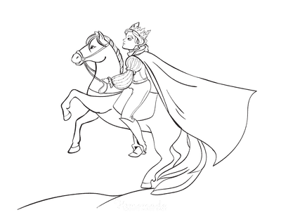 Horse Coloring Pages Prince Cloak Riding
