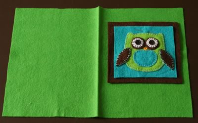 how to make a journal cover felt project
