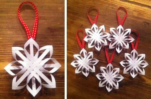 How to make a star christmas tree ornament step by