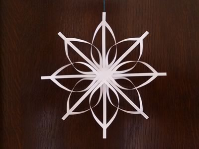 delicate christmas star - how to make