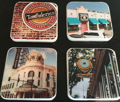 how to make coasters with photos of placers you've been on dates