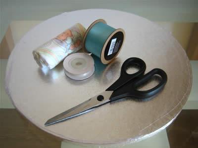 how to make a diaper cake - materials