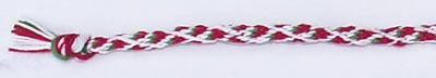 friendship bracelet with strawberry pattern