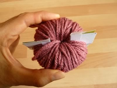how to make pom poms step 4