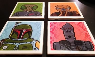 how to make tile coasters - star wars