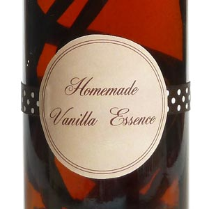 homemade gifts in a jar - vanilla extract