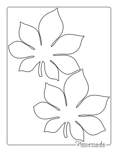 Leaf Template Chestnut Medium