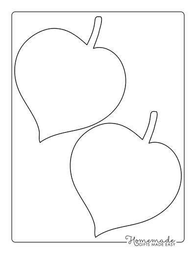 Leaf Template Heart Shaped Medium