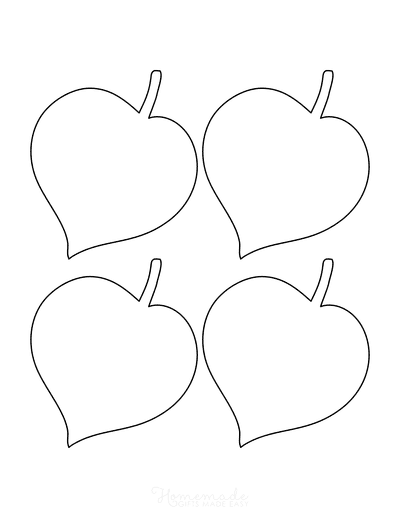 Leaf Template Heart Shaped Small