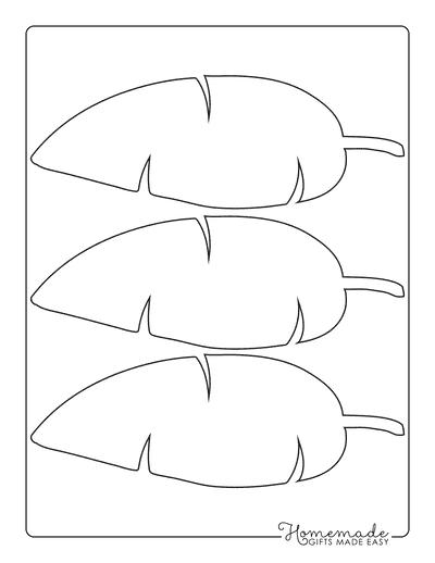 Leaf Template Long Narrow Banana Tropical Medium