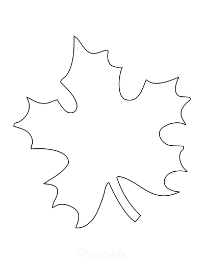 Leaf Template Maple Natural Large
