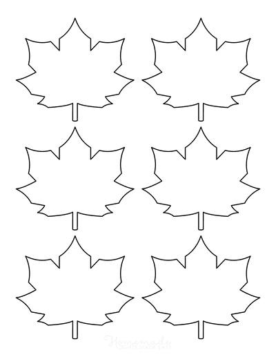 Leaf Template Maple Simple Small