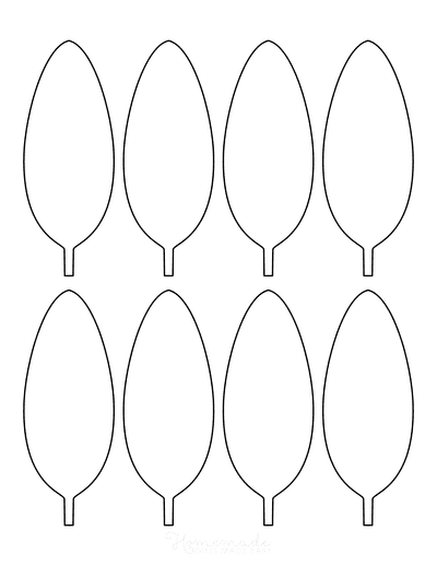 Leaf Template Oval Small