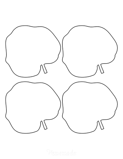 Leaf Template Round Small