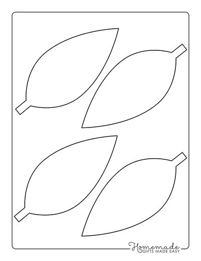 Leaf Template Simple Oval Medium