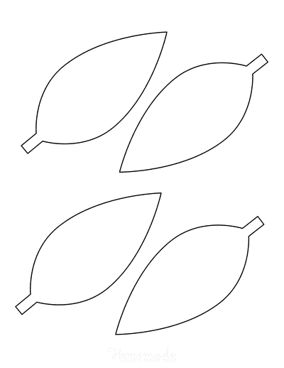 21 Free Leaf Templates - Printable Outlines Of Maple, Oak Etc For Kids  Crafts