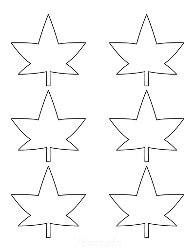 Leaf Template Star Simple Small