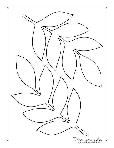 Leaf Template Tropical Compound Medium