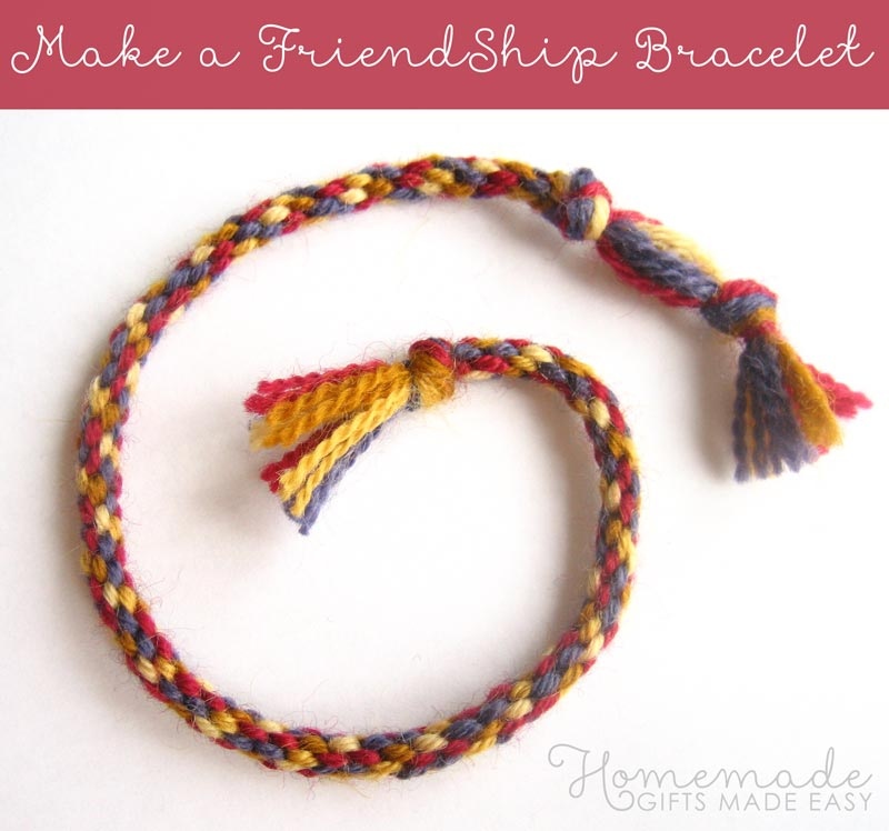 make a friendship bracelet finished large