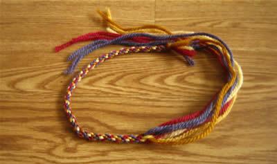 make a friendship bracelet step 5