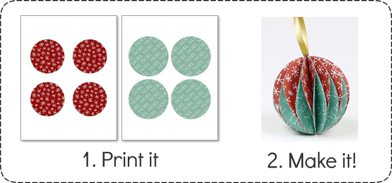 Make Christmas Ornaments - Printable Paper