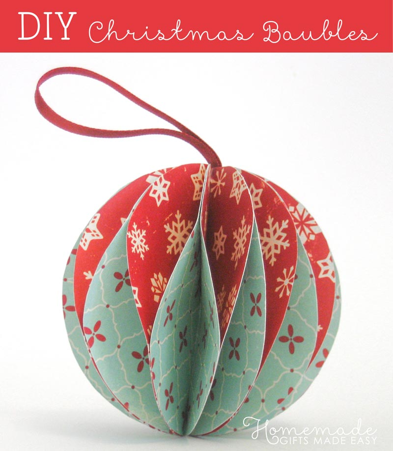 Easy to make christmas ornaments for Christmas decorations ideas to make at home