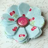 make fabric flowers flat red thumb