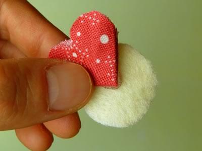 make fabric flowers flat step 4b