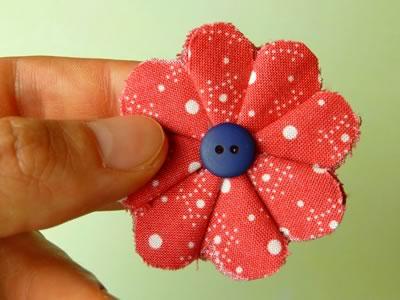 Make Fabric Flowers Flat Step 7