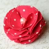 make fabric flowers rounded thumb
