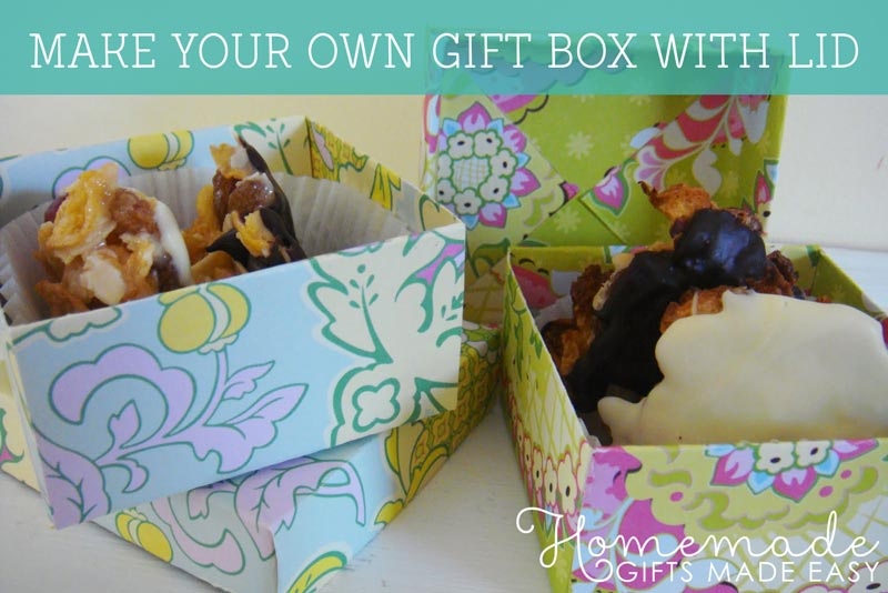 Make Your Own Gifts Make your own gift box with lid video tutorial picture instructions make your own origami gift box sisterspd