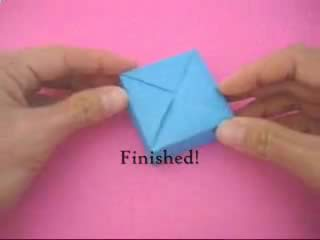 Origami Box with Cover Folding Instructions - How to Fold an ... | 240x320