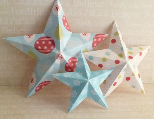 How To Make 3d Christmas Decorations From Paper : Making christmas decorations easy d stars baubles and