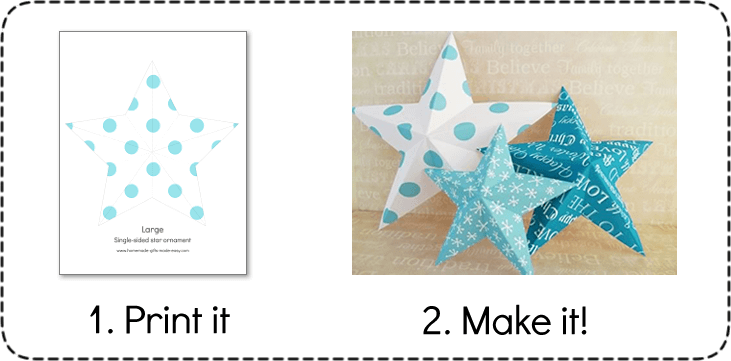 Making Christmas Decorations - Printable 3D Stars