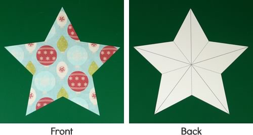 Making christmas decorations easy 3d stars baubles and for How to make paper christmas decorations at home