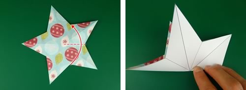 making christmas decorations 3d star step 3