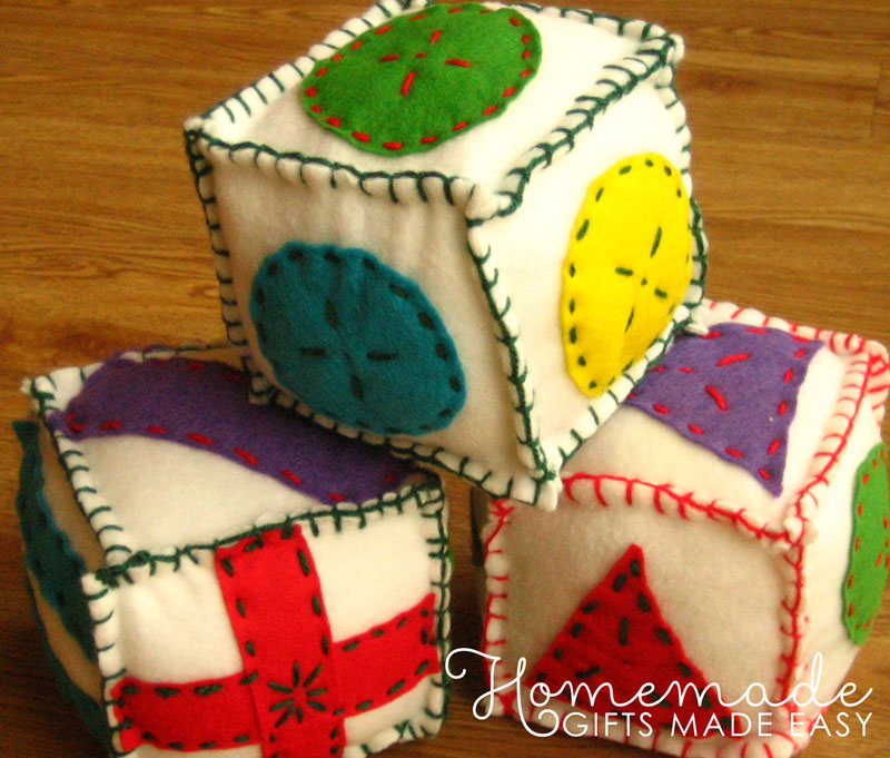 Easy homemade baby gifts to make ideas tutorials and photos homemade baby gifts soft blocks solutioingenieria Gallery